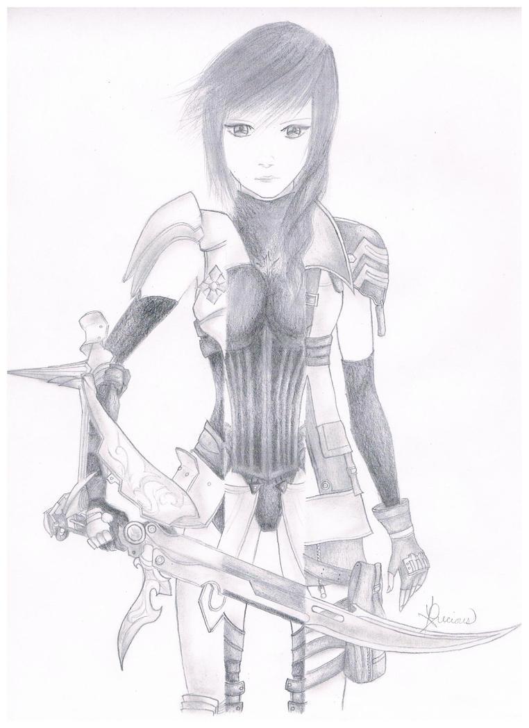 Lightning (Final Fantasy XIII) by Ryuzaki-22