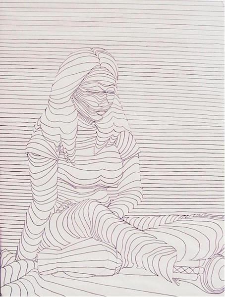 Contour Line Drawing Of A Person : Contour line portrait by alycorn on deviantart