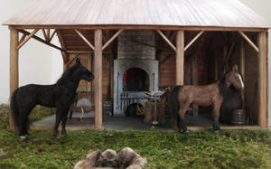 Horses In Front Of The Blacksmith Shop by AtriellMe