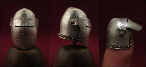Late 14th Century Italian Bascinet by AtriellMe