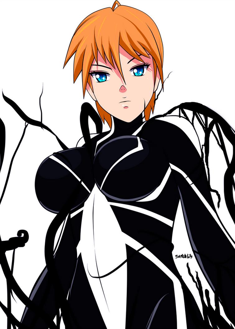Spider girl symbiont by sketchbits on deviantart