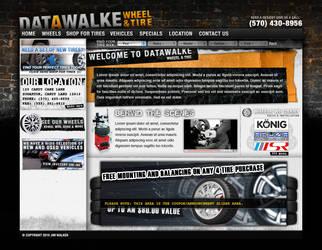Tire Shop Website Design by Datawalke