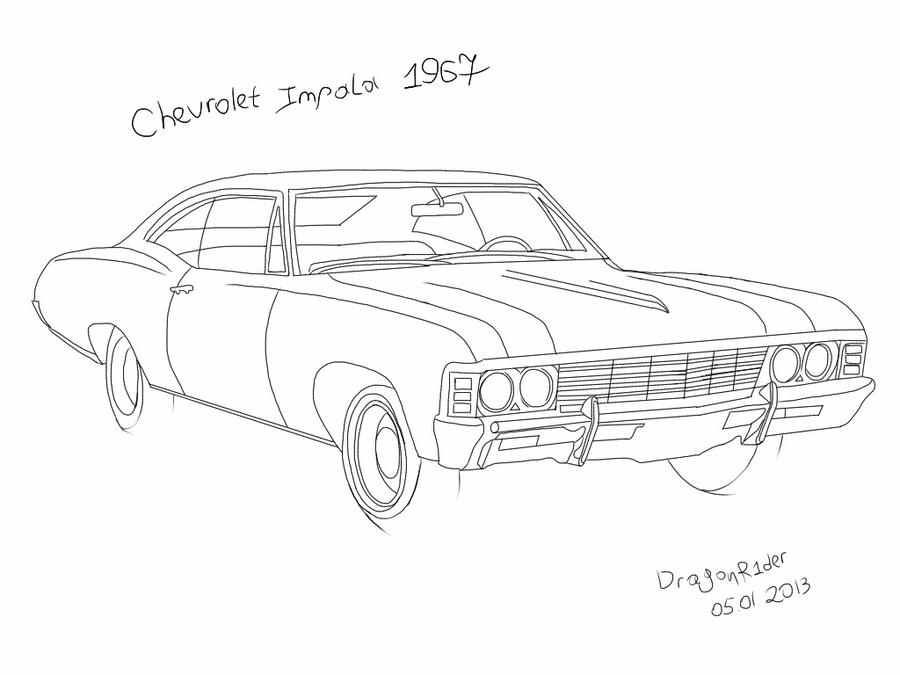 chevrolet impala 1967 by dragonr1der on deviantart