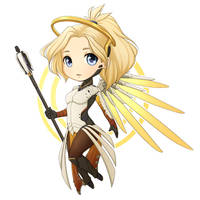 Chibi Mercy by BrittanyWillows