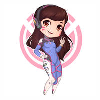 Chibi D.Va by BrittanyWillows