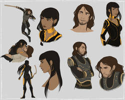 Sketch Page for Ne0natomy by BrittanyWillows
