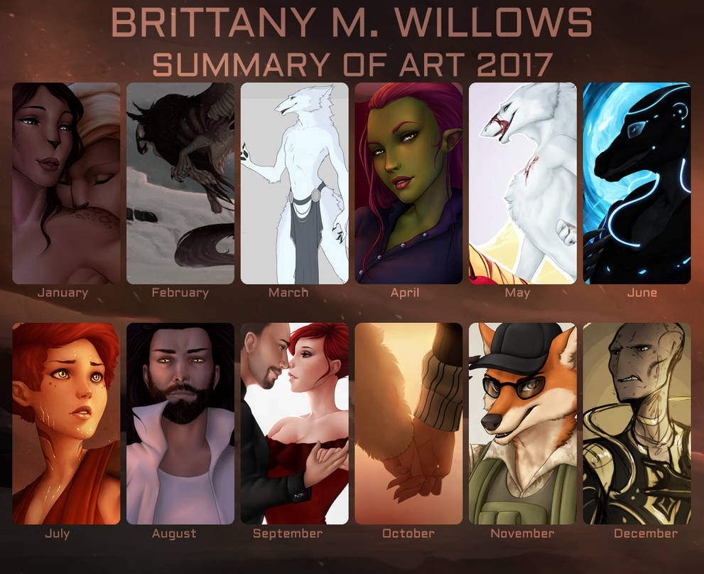 Summary of Art 2017 by BrittanyWillows