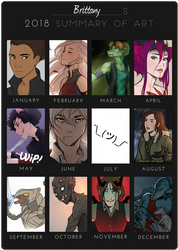 2018 Summary of Art by BrittanyWillows