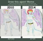 Redraw meme: Demona by animaniac21285