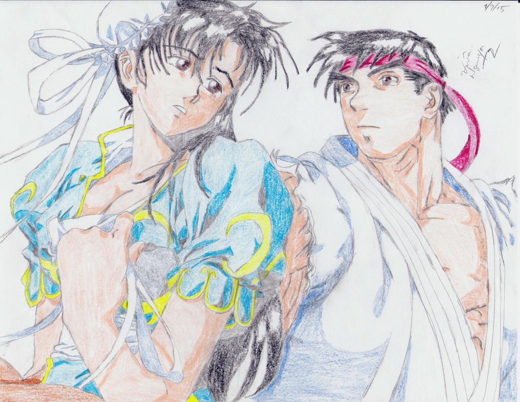 Ryu + Chun Li by animaniac21285