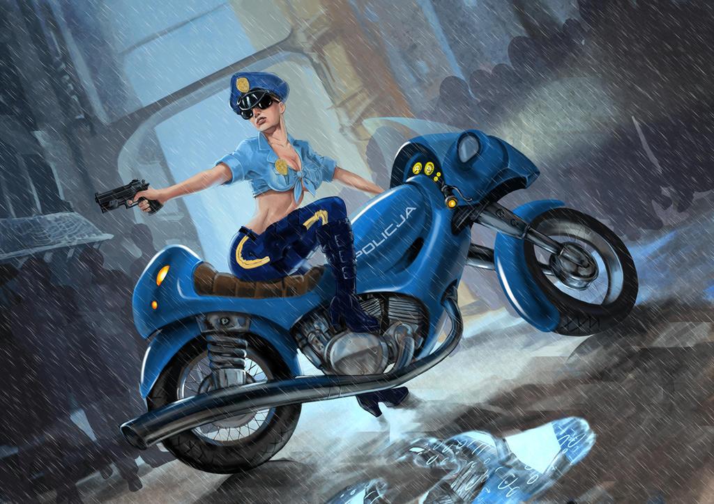 Policewoman by Deathfeniks