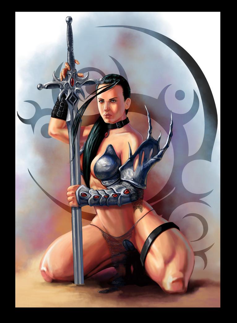 Warrior Lady by Deathfeniks