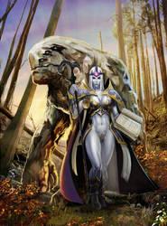 Mage n earth elemental by Deathfeniks