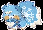 O-0333 Snowflake Macaron