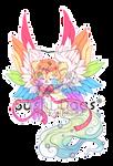 O-0345 Starry Rainbow Wedding Cake