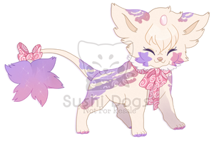 M-0017 Enchanted Pearly Fawn Cupcake by SooshDatabase