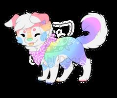 M-0429 Rainbow Pastel Flower Cake by SooshDatabase