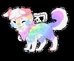 M-0429 Rainbow Pastel Flower Cake