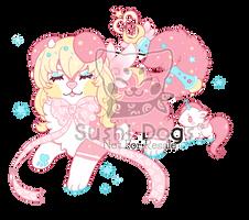 M-0653 Pastel Unicorn Magical Girl Cake by SooshDatabase