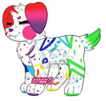 M- Paint Splatter Cake by SooshDatabase