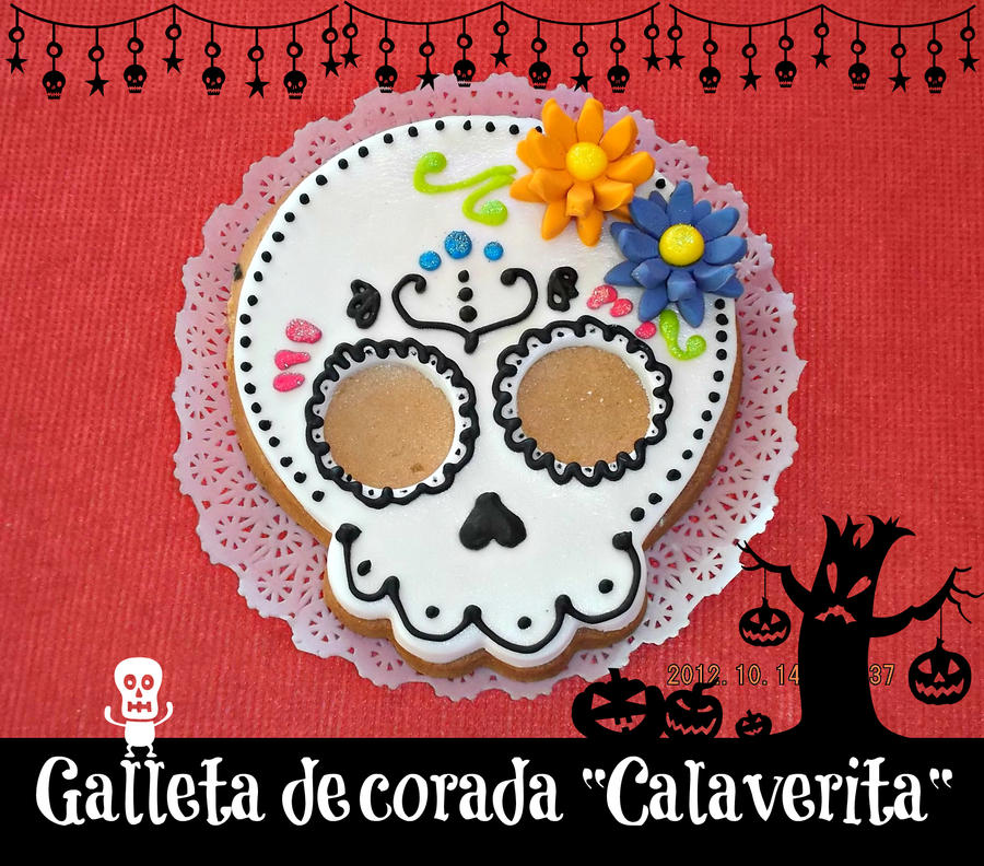 Day of the dead cookie by chiaopi
