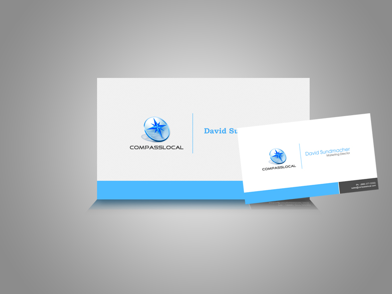 Local compass Visiting Card by khurram-cr8ive