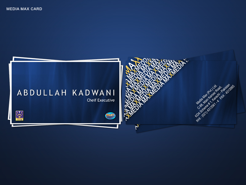 Visiting Card For media minds by khurram-cr8ive