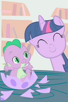 Twilight and Spike by andy18