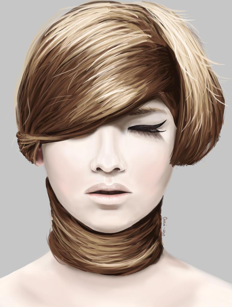 Hair practice by chari-san