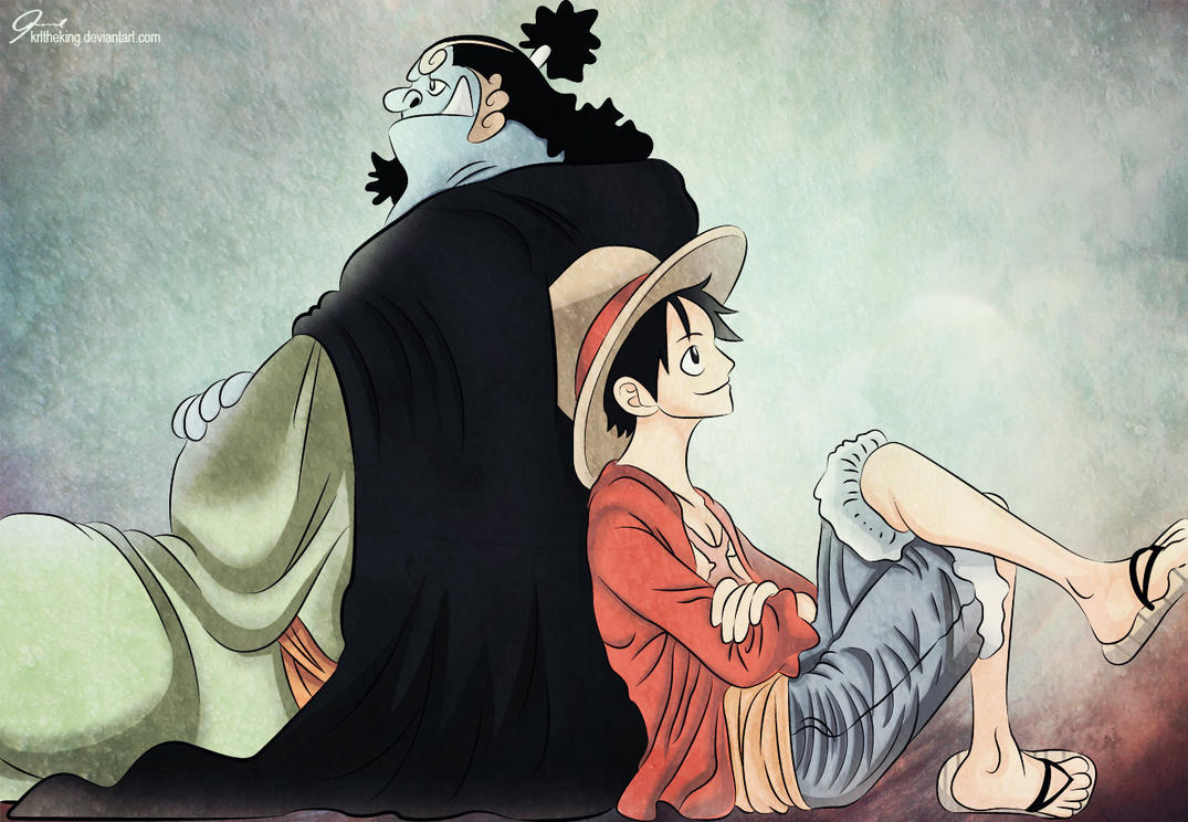 Luffy and Jinbei 1 by KrlTheKing