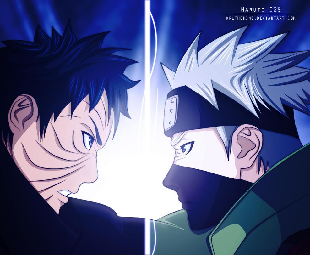 Naruto 629 | Obito and Kakashi by KrlTheKing on DeviantArt