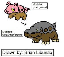 Fakemon: mud hippos and Pigs by Brian12