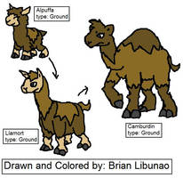 Fakemon: Camelids by Brian12