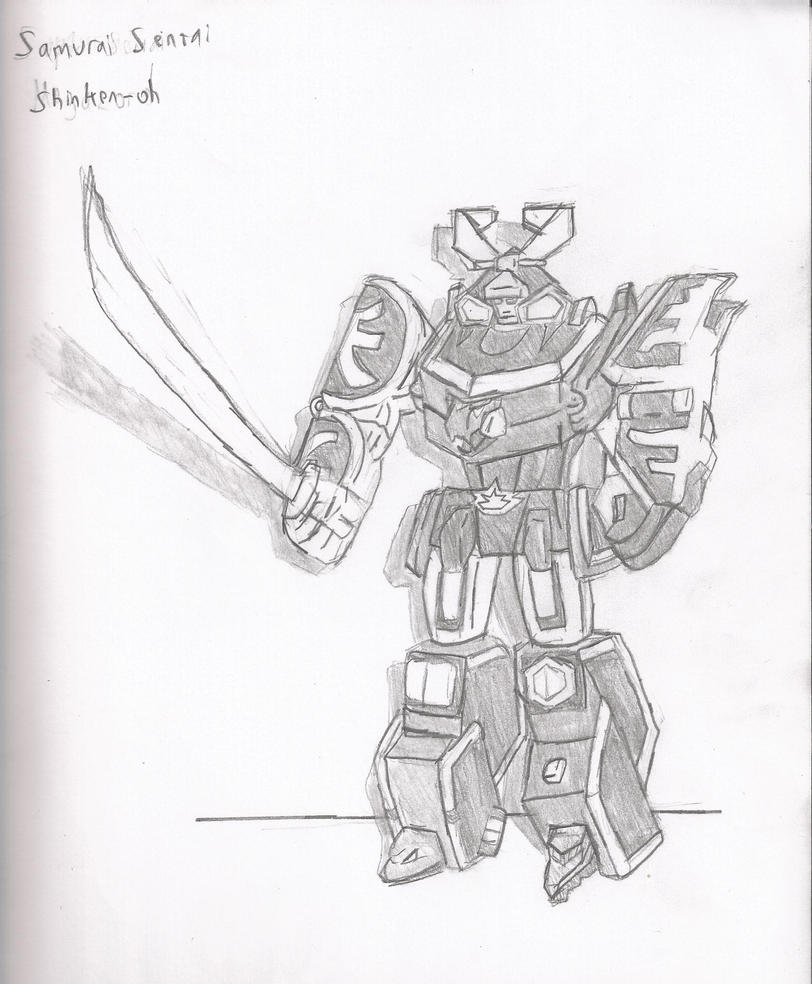 Samurai megazord by brian12 on deviantart for Power rangers samurai megazord coloring pages