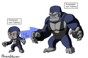 Fakemon: Wrestling Simians by Brian12