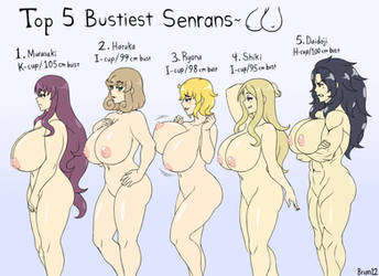 Commission: Top 5 Bustiest Senrans for Jarrguy by Brian12