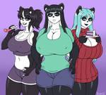 HBD Skecchi: Pandamom and her girls