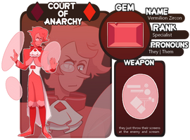 [Courts Of Anarchy App] Vermilion Zircon by eliaria