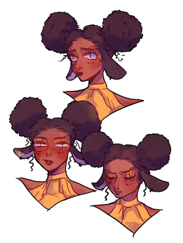 [commission] Nahla (expressions sketch)
