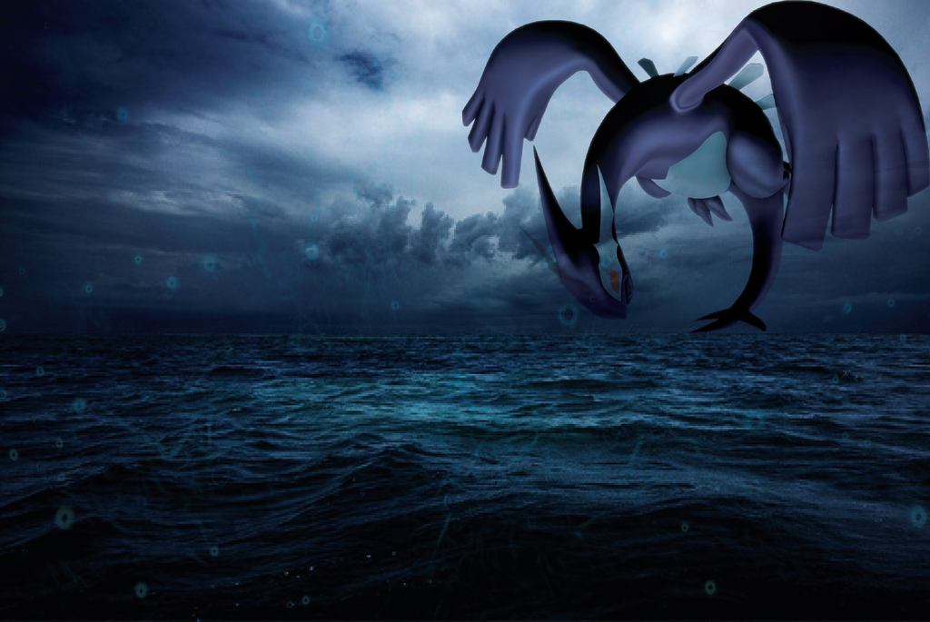 Shadow Lugia Wallpaper by Okuni-Evangeline-Yin on DeviantArt