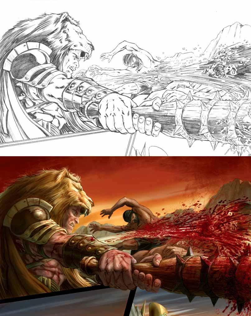 Hercules The Knives of Kush by crisbolson