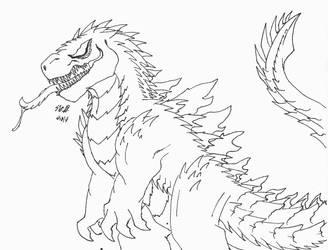 Godzilla Symbiote by MonsterMasher137