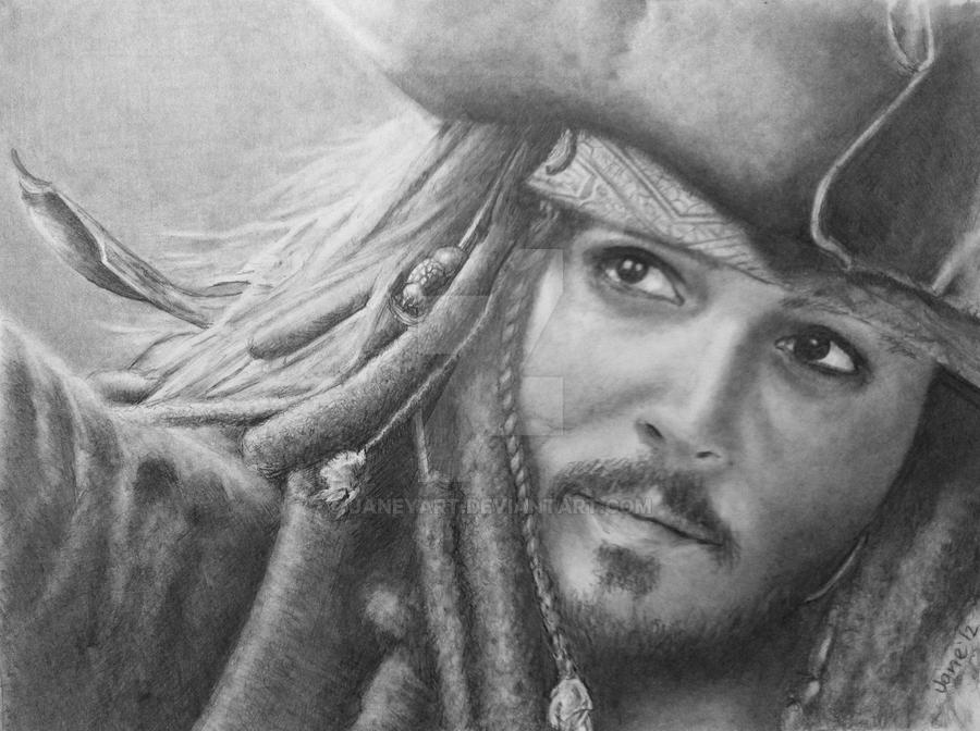 Johnny Depp/ Jack Sparrow by JaneyArt