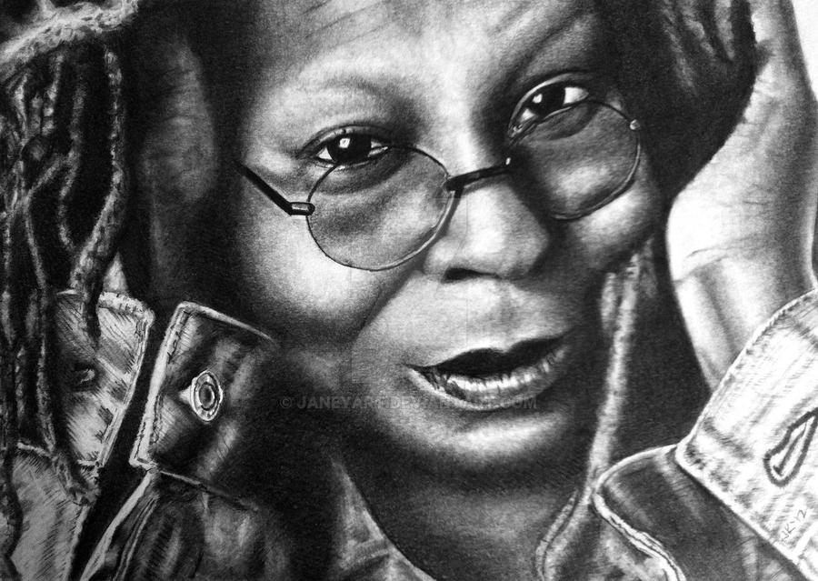 Whoopi Goldberg by JaneyArt