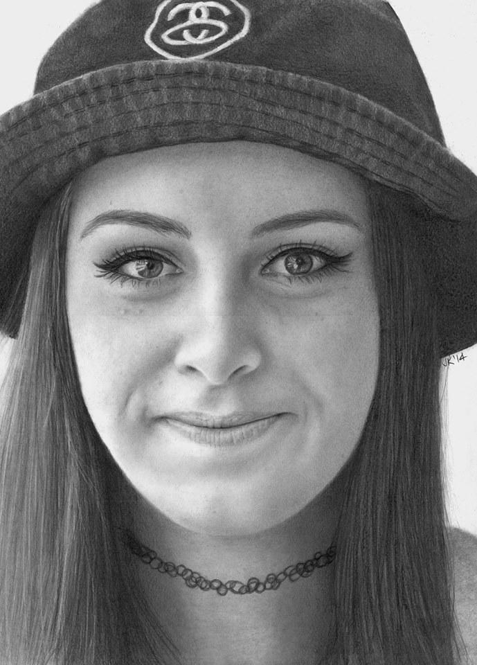 Beauty in a bucket hat by JaneyArt