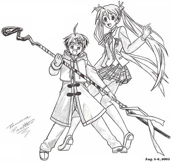 Negi and Asuna by immovablemuffle