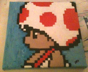 Toad Pixel Painting