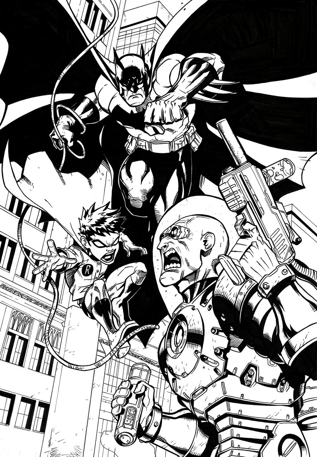 Coloring Pages Mr Freeze Coloring Pages batman and robin vs mr freeze by crausse on deviantart crausse