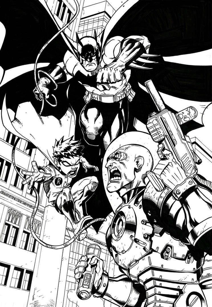 Batman and Robin vs. Mr. Freeze by Crausse