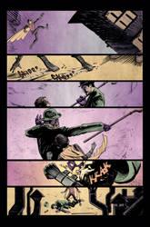 Robin vs. Riddler by Ryan Winn